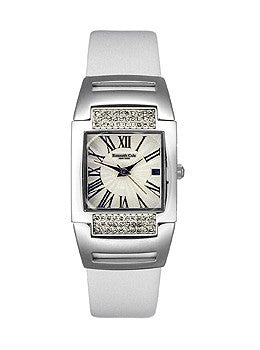 Kenneth Cole Three-hand Date Leather Strap White Dial Womens watch #KC2271