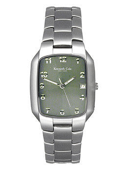 Kenneth Cole 3-Hand Arabic Green Dial Mens Watch #KC3301