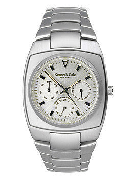 Kenneth Cole Multifunction Barrel Silver Dial Mens Watch #KC3309