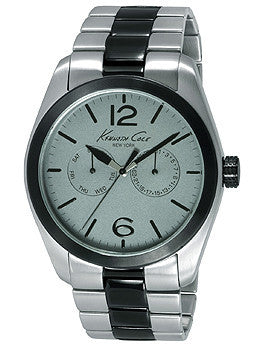 Kenneth Cole New York Silver and Gunmetal Stainless Steel Mens watch #KC9365