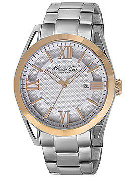 Kenneth Cole New York Three-Hand Stainless Steel - Two-Tone Mens watch #KC9373