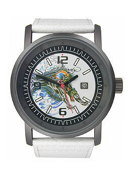 Ed Hardy Kombat Panther White Dial Mens watch #KM-PT