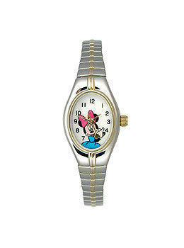 Disney Minnie Mouse Two-tone Expansion White Dial Womens watch #MCK625