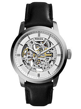 Fossil Townsman Automatic Black Leather Mens watch #ME3085