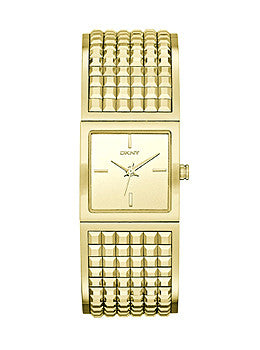 DKNY Bryant Park Gold-Tone Wide Bangle Womens watch #NY2231
