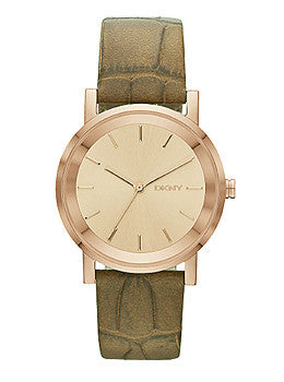 DKNY Soho Brown Embossed Leather Womens watch #NY2245