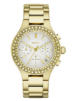 DKNY Chambers Gold-Tone Stainless Steel Chronograph Womens watch #NY2259