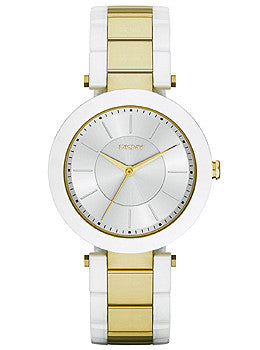 DKNY Stanhope Three-Hand Ceramic and Stainless Steel Womens watch #NY2289