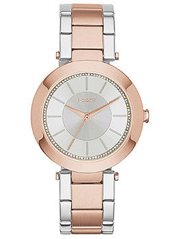 DKNY Stanhope Three-Hand Two-Tone Stainless Steel Womens watch #NY2335