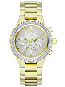 DKNY Multifunction Gold-Tone Stainless Steel Womens watch #NY2395