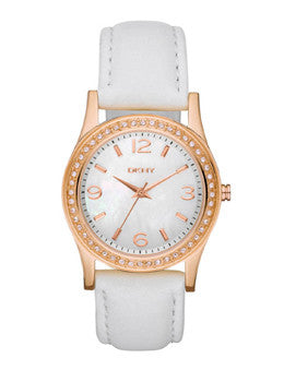 DKNY Glitz Mother-of-Pearl Dial Womens Watch #NY8375