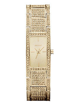 DKNY 3-Hand Pave Crystal Womens watch #NY8687