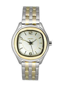 DKNY Round Two-Tone Steel Bracelet Womens watch #NY8828
