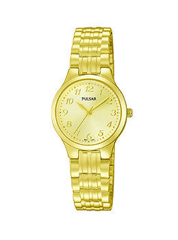Pulsar Gold-Tone Stainless Steel Expansion Band Womens watch #PG2034