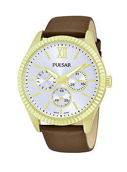 Pulsar Multifunction Leather - Brown Womens watch #PP6144