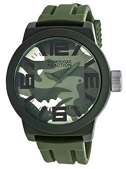 Kenneth Cole Reaction Silicone - Olive Mens watch #RK1350