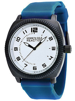 Kenneth Cole Reaction Three-Hand Silicone - Blue Mens watch #RK1361