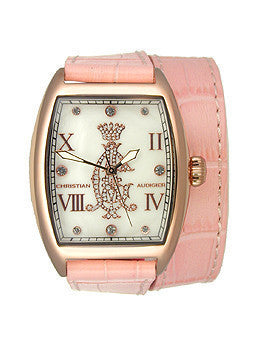 Christian Audigier Analog Collection Entice-Pink Mother-of-pearl Dial Womens watch #SPE-618