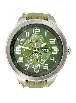 HydrOlix Multifunction Green Nylon/Green Dial Mens watch #XA00102
