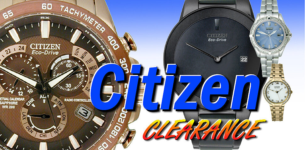 Deep discounted prices on Authentic Citizen watches