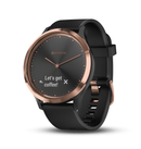 "Garmin Activity Monitors Sport Black with Rose Gold Hardware / Small/Medium (4.8""-7.44"") Garmin Vivomove HR Hybrid Smart Watch"