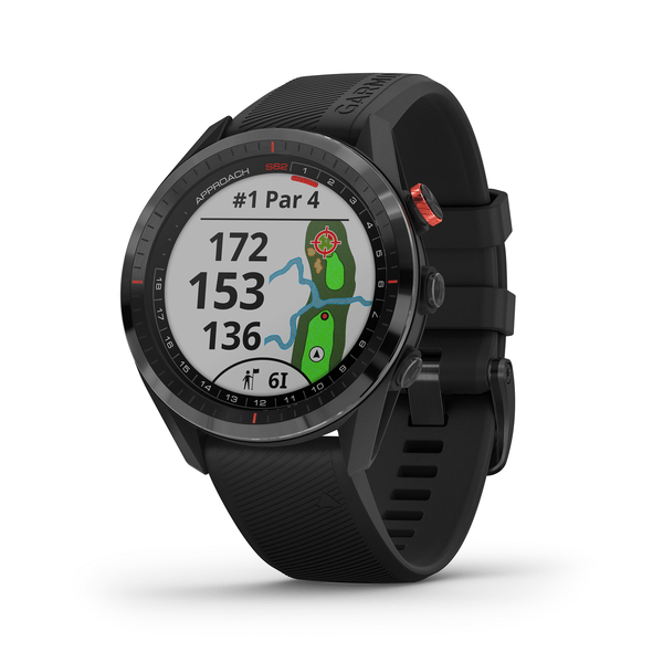 Garmin Golf Black ceramic bezel with black silicone band / Watch Only Garmin Approach S62 Premium GPS Golf Watch