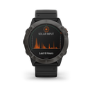 Garmin Multi-Sport Watch Titanium Carbon Gray DLC with Black Band Garmin fēnix 6X Pro Solar