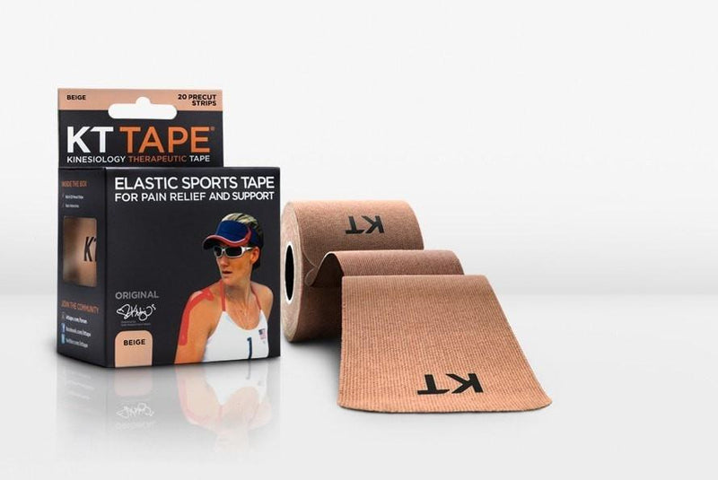 KT Tape Sports Therapy Beige KT TAPE Cotton Elastic Kinesiology Tape  20 Pre-Cut 10 Inch Strips