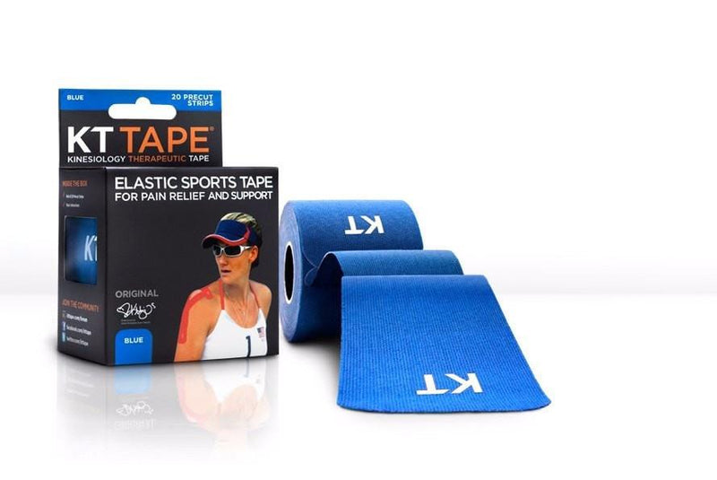 KT Tape Sports Therapy Blue KT TAPE Cotton Elastic Kinesiology Tape  20 Pre-Cut 10 Inch Strips