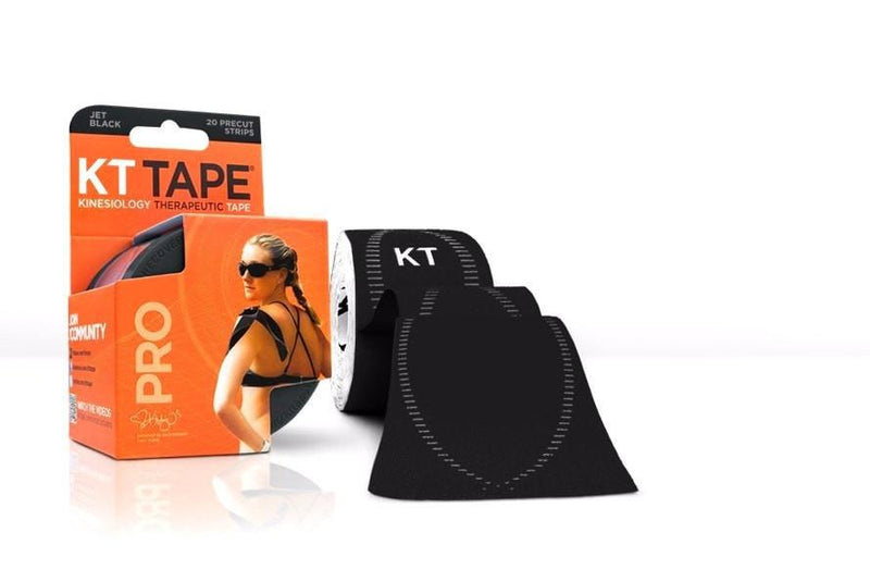KT Tape Sports Therapy Jet Black KT Tape Pro Synthetic (Pre-cut 20 strips)