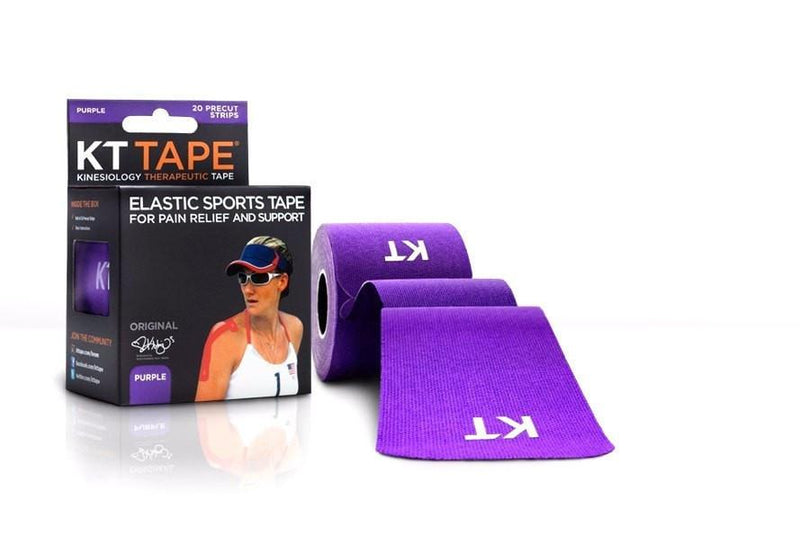 KT Tape Sports Therapy Purple KT TAPE Cotton Elastic Kinesiology Tape  20 Pre-Cut 10 Inch Strips