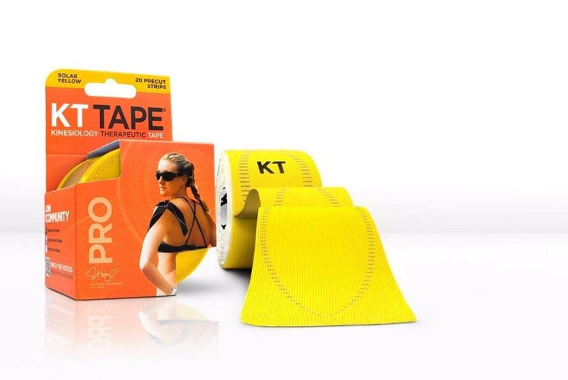KT Tape Sports Therapy Solar Yellow KT Tape Pro Synthetic (Pre-cut 20 strips)