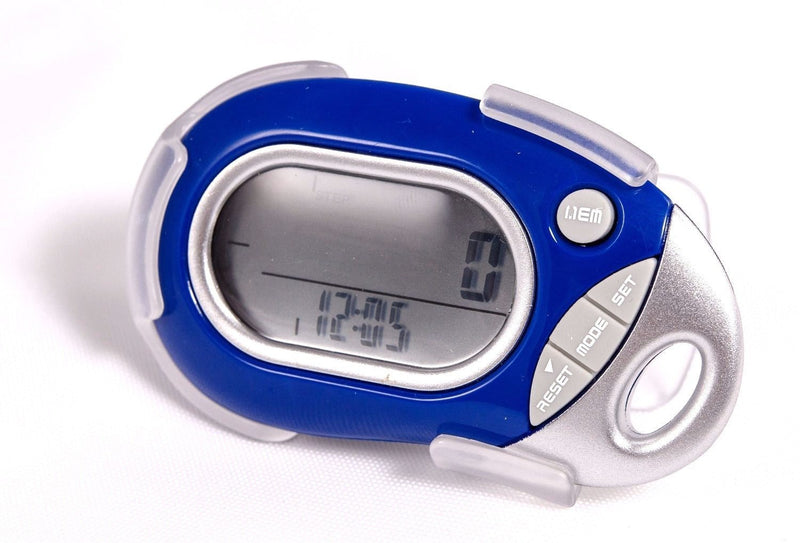 Pedusa Pedometers Blue Pedusa PE-771 Tri-Axis Multi-Function Pocket Pedometer and Clip