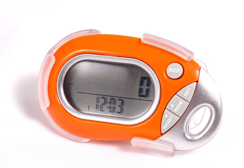 Pedusa Pedometers Orange Pedusa PE-771 Tri-Axis Multi-Function Pocket Pedometer and Clip