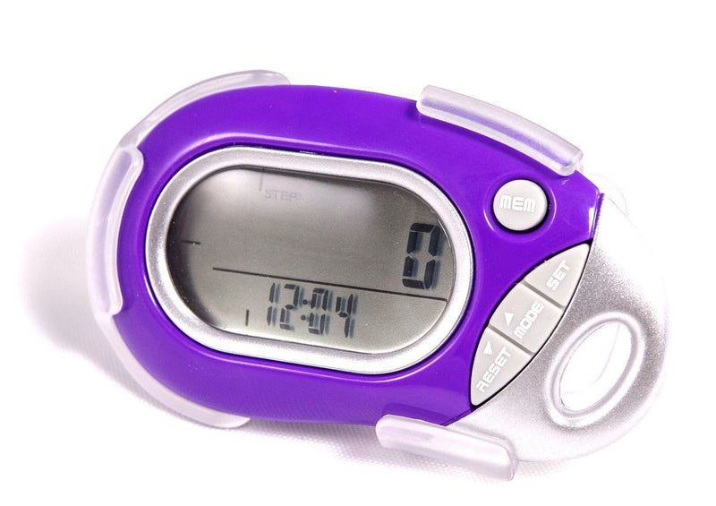 Pedusa Pedometers Purple Pedusa PE-771 Tri-Axis Multi-Function Pocket Pedometer and Clip