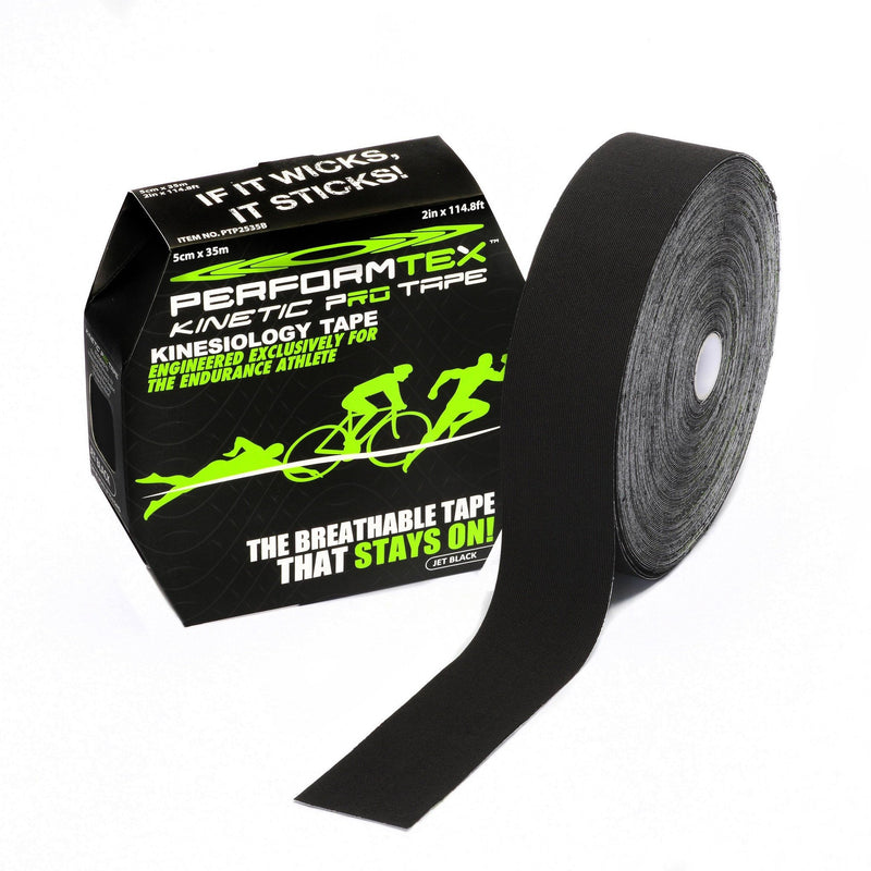 Performtex Kinesiology Tape Jet Black / 35 Meter PerformTex Kinetic Pro Kinesiology Tape