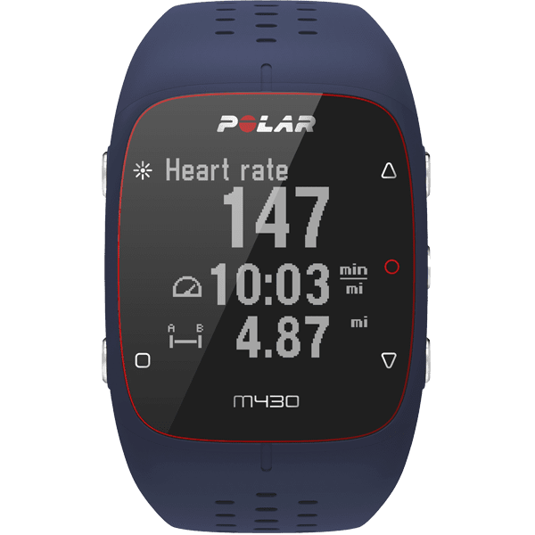 Polar Running Watches Blue / M/L (9.25 Inches) Polar M430 GPS Enabled Running Heart Rate Monitor