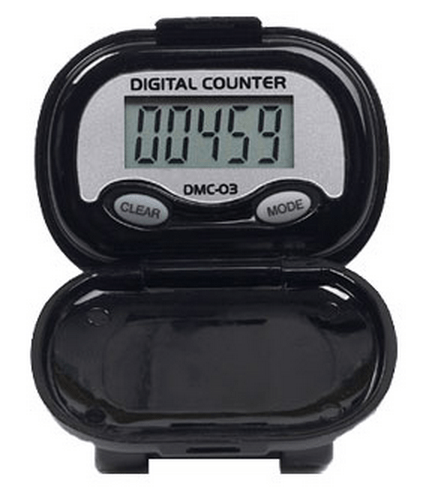 Shinwoo Pedometers Black DMC03 Multi-Function Pedometer