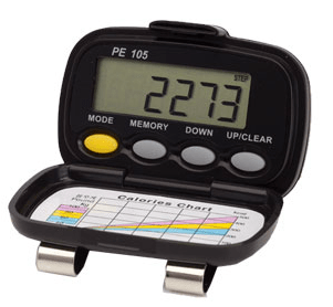 Shinwoo Pedometers Black PE-105 Tri-Axis Multi-Function Pocket Pedometer
