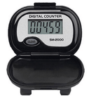 Shinwoo Pedometers Black SM2000 Step Pedometer