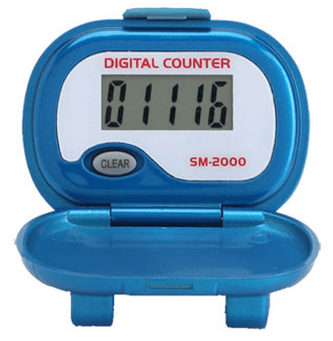 Shinwoo Pedometers Blue SM2000 Step Pedometer