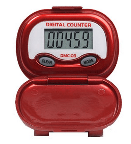 Shinwoo Pedometers Red DMC03 Multi-Function Pedometer
