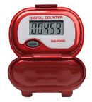 Shinwoo Pedometers Red SM2000 Step Pedometer