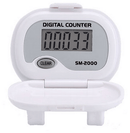 Shinwoo Pedometers White SM2000 Step Pedometer
