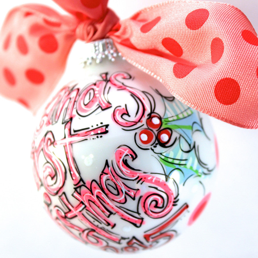 PERSONALIZED BABY'S FIRST Christmas PINK Ornament – Dakri ...