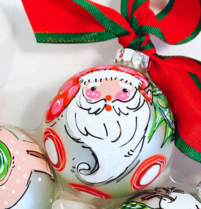 ORNAMENT, PERSONALIZED SANTA Ornament