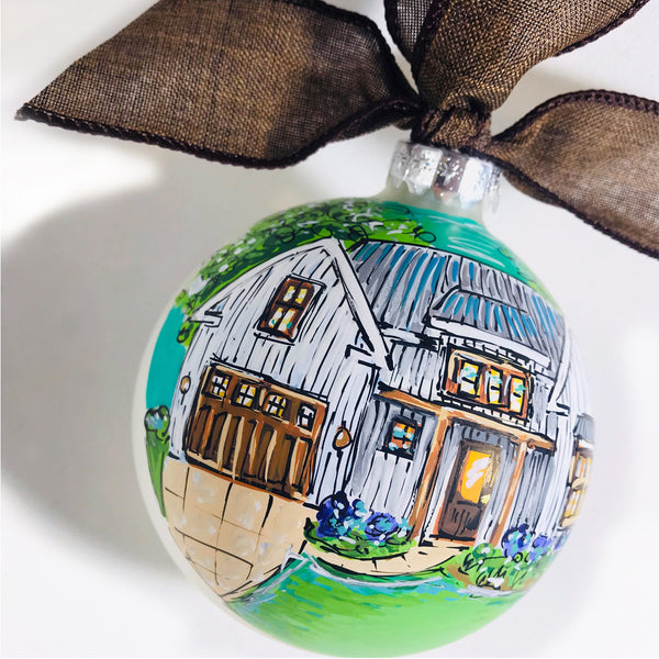 ORNAMENT, Custom House Portrait Ornament, Our First Home Ornament