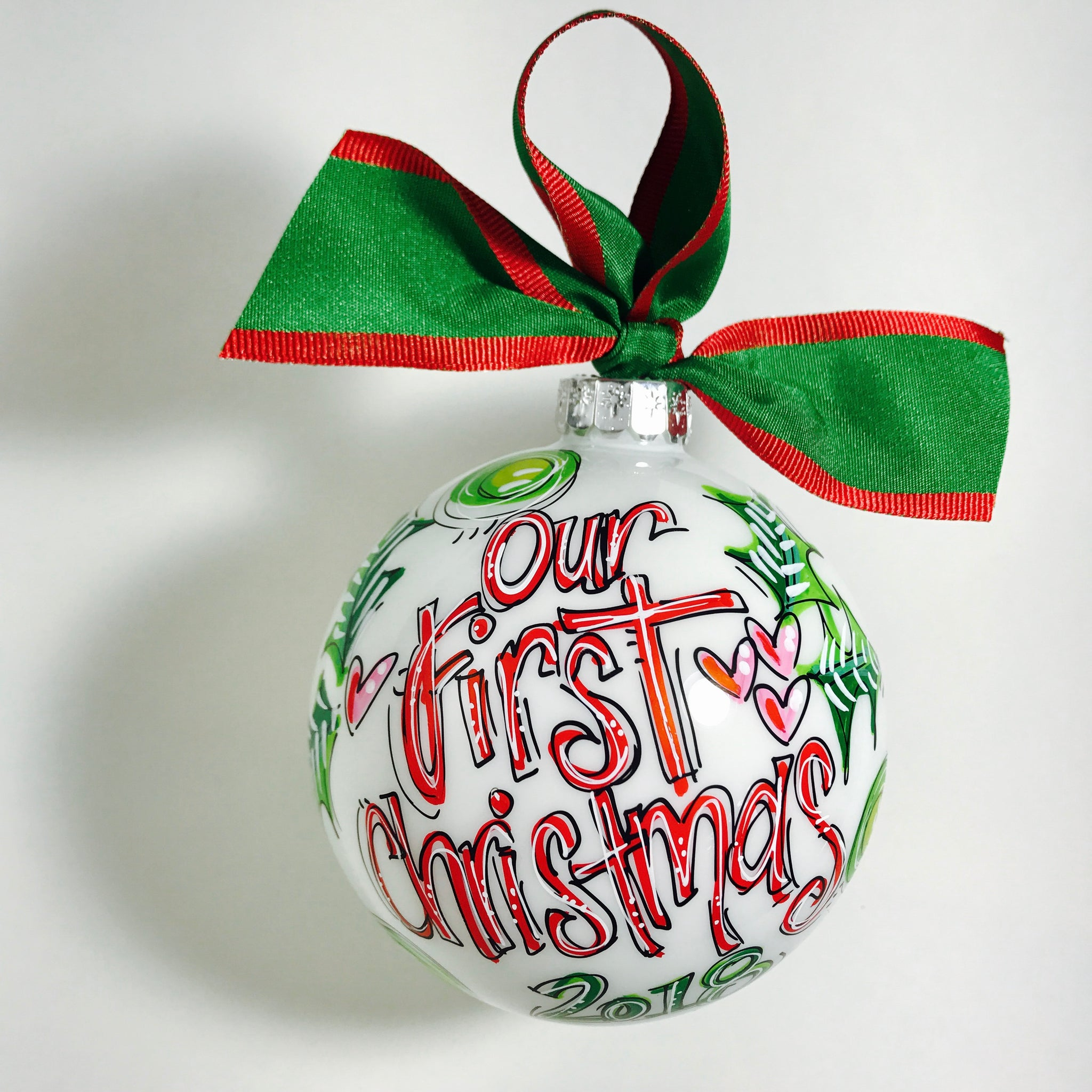 Christmas ornament, our first christmas, wedding ornament, anniversary gift