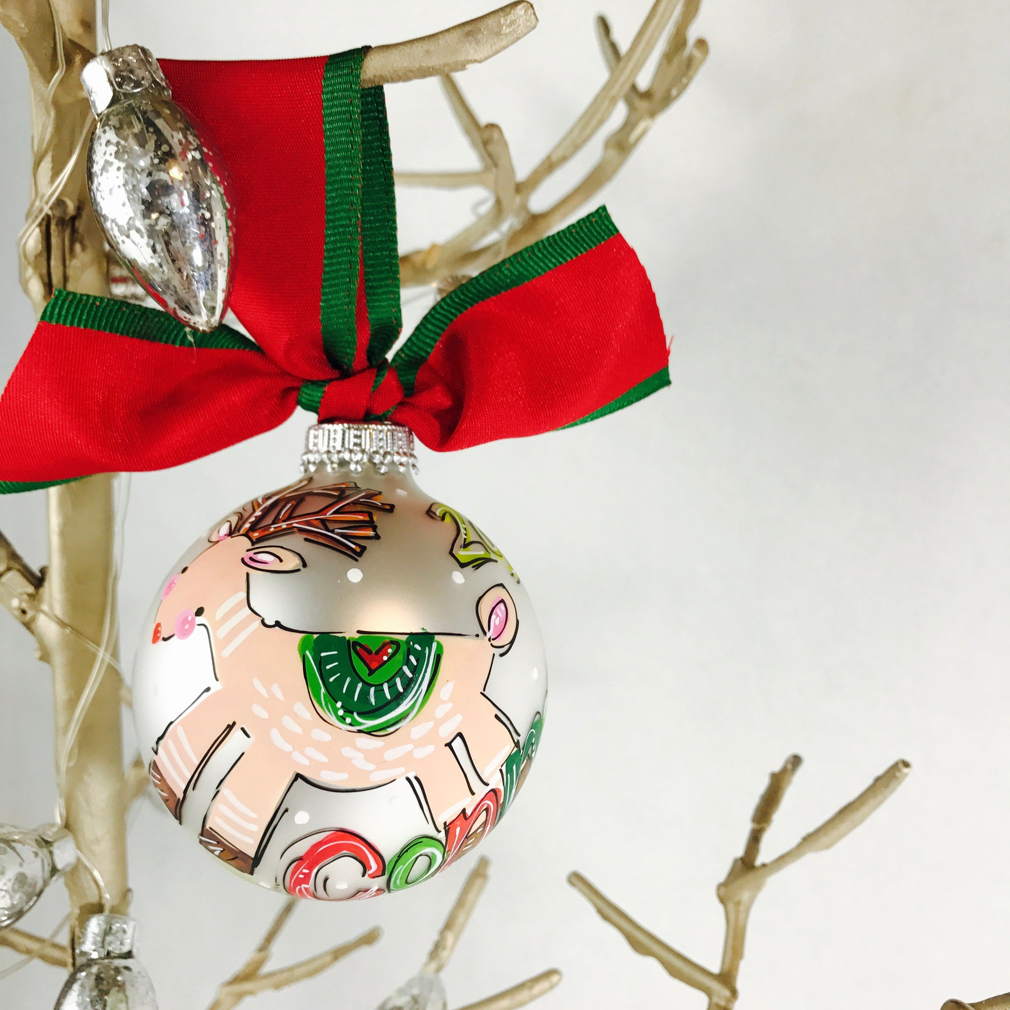 ORNAMENT, PERSONALIZED REINDEER Ornament