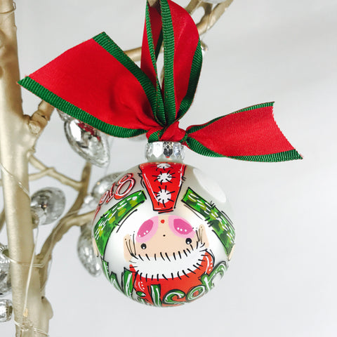 ORNAMENT, PERSONALIZED ELF 'Upside Down' Ornament